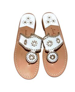 Jack Rogers Think Spring Navajo Palm Beach White Sandals