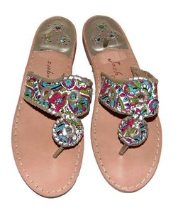 Jack Rogers Think Spring Navajo Dania Palm Beach Paisley Multi-Color Sandals