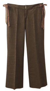 Rebecca Taylor Wide Leg Pants Brown