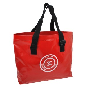 Chanel Jumbo Xl Limited Edition Unisex Beach Tote in Red