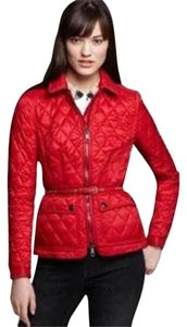 Burberry Brit Dearrington Burberry Check Nova Red Jacket