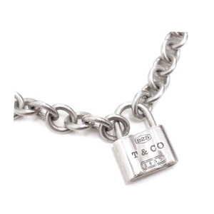 Tiffany & Co. Sterling Silver 1837 Padlock Pendant/Clasp Necklace