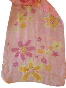 Other Soft Polyester Pink Floral Scarf