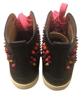 Christian Louboutin White Multicolor Leather black, Red, Yellow, Green, Blue, Orange Athletic