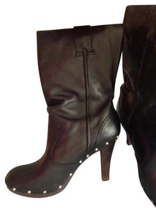 Michael Kors Kors Leather High Heel BLACK Boots