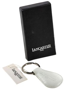 Lancaster Lancaster White Italian Leather Key Ring Chain