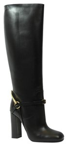 Gucci 358215 Horsebit Leather Black Boots
