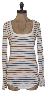 Free People Hard Candy Cuff Striped Top WHITE