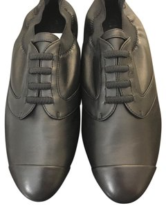 Chanel Lace Up Lambskin Stretch Cap Toe Black Athletic