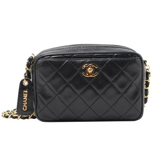8dc92a34753e Added to Shopping Bag. Chanel Vintage Lambskin Quilted Shoulder Bag. Chanel  Camera Vintage Case Crossbody Black Lambskin Leather ...