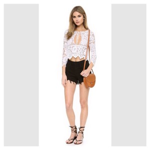For Love & Lemons And Lace Crop Coachella Festival Top white