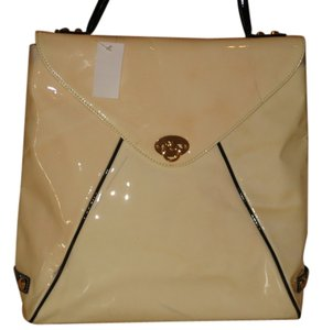 Goldenbleu Satchel in Cream Black