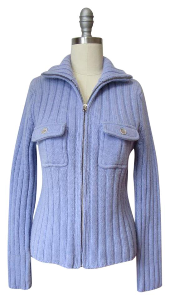 e429270a0a8 J.Crew Periwinkle Ribbed Lambswool Cardigan Size 8 (M) - Tradesy