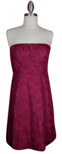 The Limited short dress fuschia Pink Strapless on Tradesy