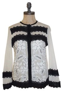 Anthropologie Agraffe Leifnotes Lace Sheer Cardigan