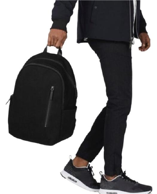 Item - Modern Commuter Black Cotton Twill Exterior Cotton/Polyester Lining Leather Detailing Backpack