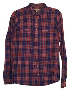 J.Crew Button Down Shirt red and blue plaid