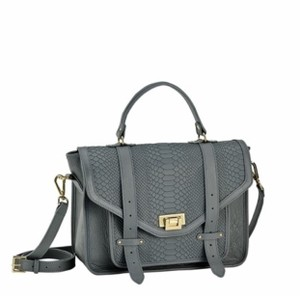 GiGi New York Leather Crossbody Satchel in Grey