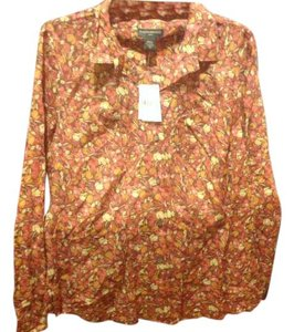 Banana Republic New With Tags Front Floral Print Great Style Button Down Shirt Autumn color, auburn s and more