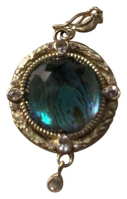 """Item - Blue """"Enhancer"""" with Of Pearl and Topaz"""