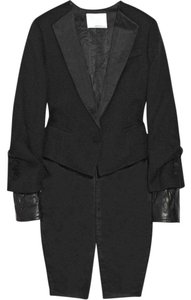 3.1 Phillip Lim Leather Tuxedo Tail Black Blazer