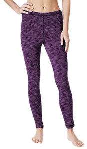 Ideology Ideology Space-Dyed Fleece Lined Base-Layer Leggings, XXL, Purple