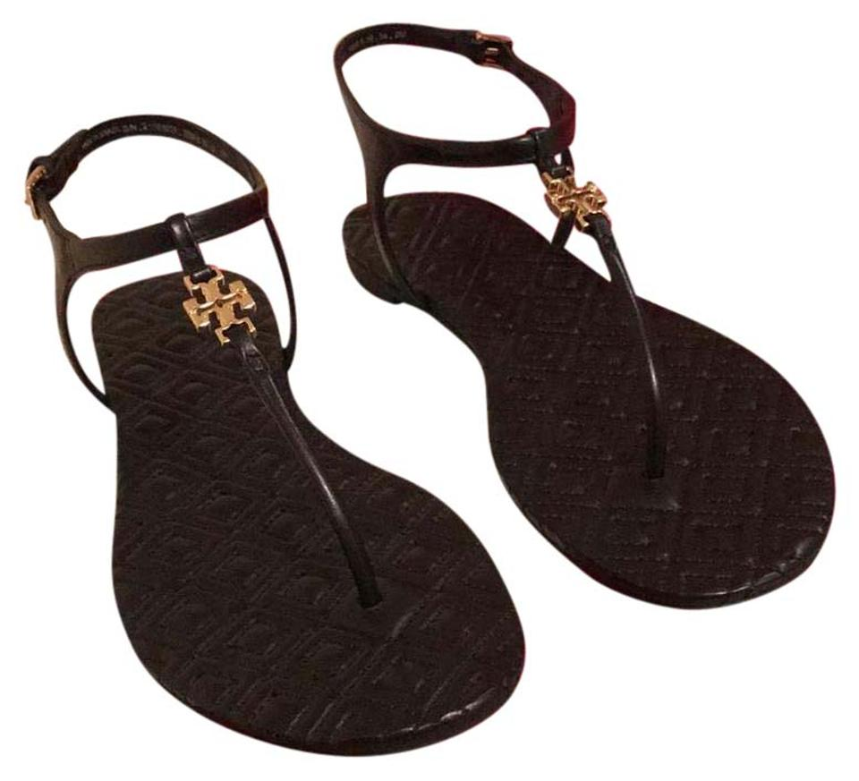 Tory Burch Gift Black Marion New with Gift Burch Box Quilted Sandals 038f81