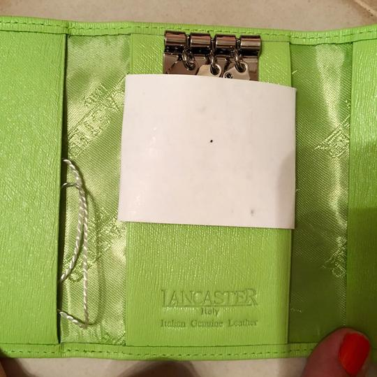 Lancaster Lancaster Green Leather Key Holder Made in Italy