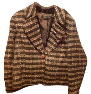 New York & Company & Co Like Tweed fuax, browns pinks & blue. Blazer