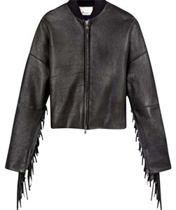 3.1 Phillip Lim Biker Motorcycle Fringe Leather Jacket