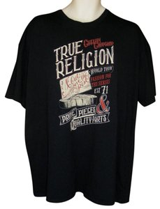 True Religion Graphic Sleeves Fashion Tee Butcher T Shirt black