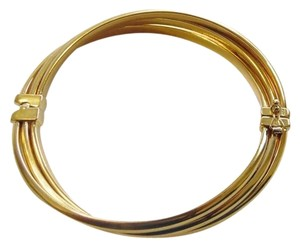 Technibond Technibond Rib Design Interlocking Oval Bracelet fits 6