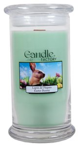 The Candle Factory The Candle Factory Large 15-ounce Jar Crackling Candle, Easter Bunny