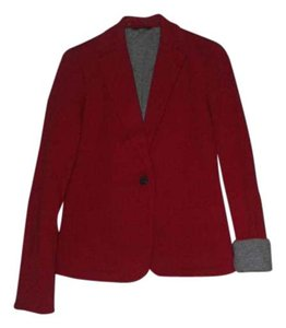 L.L.Bean Cotton Contrast Classic Red Blazer