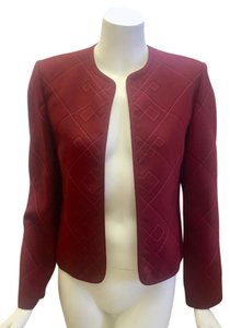 Louis Feraud Jacket Size 6/ 38 Red Blazer