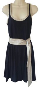 Iisli short dress metallic beige, navy blue on Tradesy