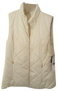 Ralph Lauren Reversible Faux Fur Gold Hardware Classic Fitted Vest