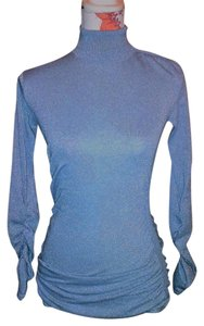 Moda International Turtleneck Blouse Glitter Dresstop Sweatshirt