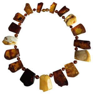 Other Real Amber over sized Chocker Necklace
