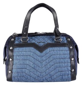 Diesel Denim Satchel in Blue Denim/Black