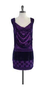 Nanette Lepore short dress Blue Velvet Sleeveless on Tradesy