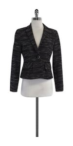 Nanette Lepore Grey Black Metallic Jacket
