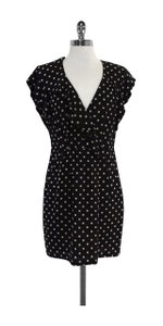 Nanette Lepore short dress Black Cream Polka Dot Silk on Tradesy