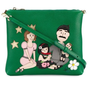Dolce&Gabbana Green Family Leather Cross Body Bag