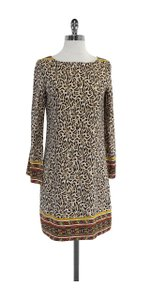 Nicole Miller short dress Amimal Print Silk Long Sleeve Shift on Tradesy