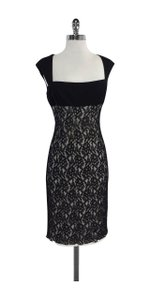 David Meister short dress Black & White Overlay Lace on Tradesy