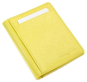 Lancaster Lancaster Made in Italy Stylish Yellow Credit Card Holder Made of Genuine Calf Leather