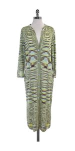 Missoni Multi Color Print Knit Long Cardigan