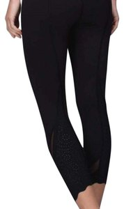 Lululemon lululemon wunder under crop special edition laser black size 4