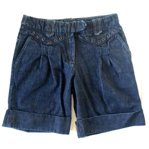 Maje Cuffed Shorts Blue